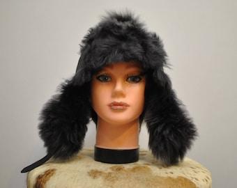 Vintage LAMBSKIN  WINTER HAT , women's fur hat  hat vintage................(021)