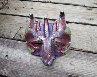 Dragon mask, masquerade mask, adult costume mask, custom made, half face mask, dragon mask, labyrinth mask