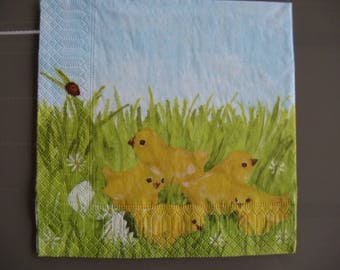 set of 2 birds paper napkins