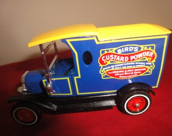 Matchbox Yesteryear Y12 Ford T,Birds Custard,metallic blue,rare.      new with box
