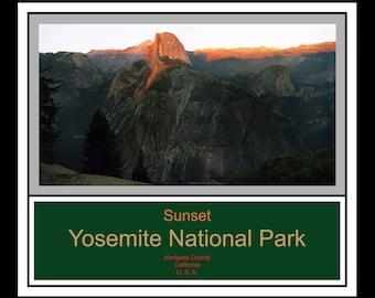 Sunset - Yosemite National Park