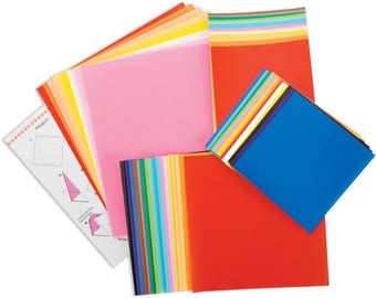 Origami Paper Multi Size and Color Assortment Pack