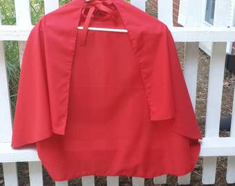 Hooded Little Red Riding Hood Cape