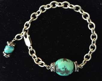 Hubei Sterling Silver Turquoise Nugget Bracelet
