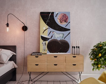 Wall art collage canvas print image - Appetence