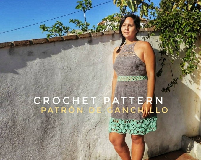 Featured listing image: Raquelito Dress Crochet Pattern