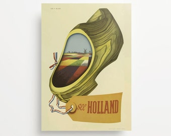 Vintage Travel Poster Holland Giclée Print