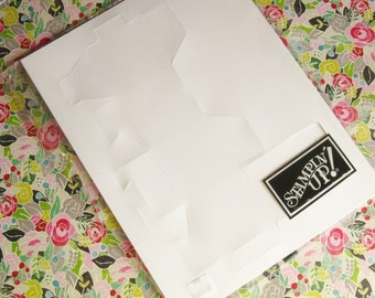 DESTASH Stampin' Up 5675-00 Small White Favor Box, 10 in Pkg|Gift Box, Die-Cut Box, Treat Box, Candy, Party Favor, Teacher Gift, Valentine