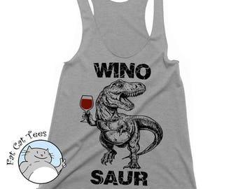 Winosaur Tank Winosaurus Tank Top Winosaur Shirt Wine Gifts Funny Tshirts Womens Graphic Tees Workout Tank Running Tank Funny Wine Shirts