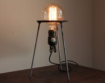 Industrial science lamp gift scientist chemistry decor desk lighting laboratory apothecary biology cool upcycled salvaged reclaimed