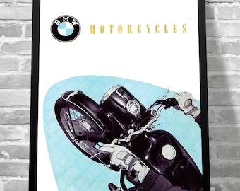 Poster of BMW 1953 - Vintage workshop Garage - Limited Edition