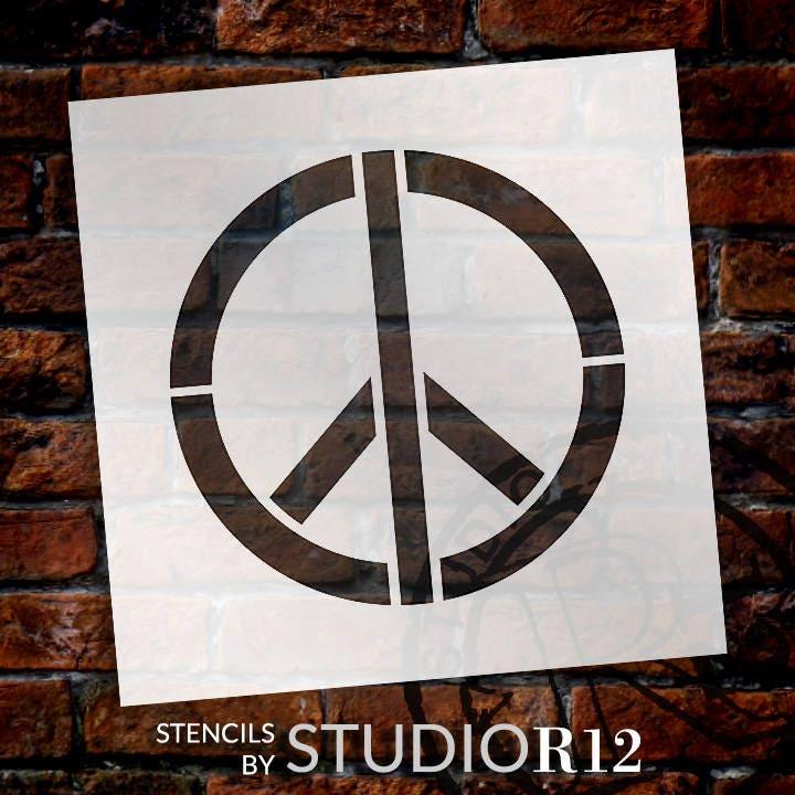 Peace-Zeichen Art Schablone wählen Sie Größe STCL1260