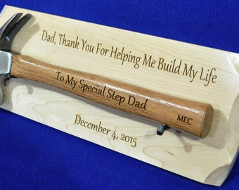 Step Father Gift ~ Wedding Gift For Step Dad ~ Gift To Dad ~ Engraved Hammer Gift ~ Father Of The Groom ~ Father Of Bride ~ Groomsmen Gifts