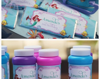 Little Mermaid Candy Wrappers