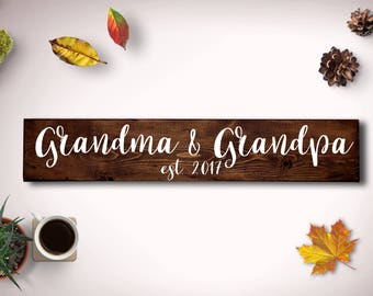 Pregnancy Reveal to Grandparents, Grandma and Grandpa Sign, Grandparents Sign, Grandmother Gift, Grandfather Gift, Grandparents to be,