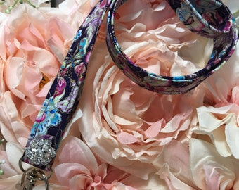 Butterfly Sparkle Lanyard~Keys, Badges, ID Holder