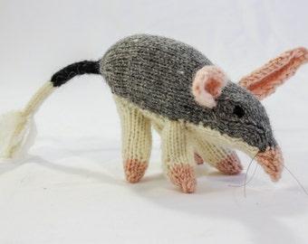 KNITTING PATTERN, Toy Knitting Pattern, Australian Bilby, Wildlife Toy, Soft Toy, Knitted Softie Pattern,