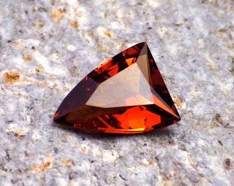 Spessartine-Mandarin Garnet-E. Africa 1.08 Ct Clarity SI1-Natural Untreated Orange with Cinnamon Overtone