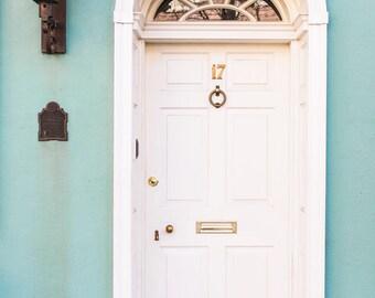 Teal Charleston Doorway Print
