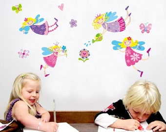 Fairy Nursery Kids Wall Decals / Wall Stickers - AW8300 - Free Delivery (Australia ONLY)