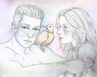 Lovers and the bird