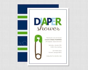 Diaper Shower Collection: Printable Invitation