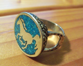 Blue Horse Ring