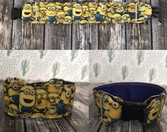 Minions, personalized, kids i.d bracelet, kids