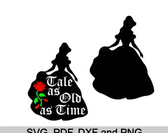 Belle Vector, Belle for Cutting Machines, Belle svg pdf dxf png