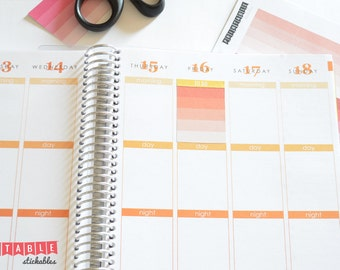 Ombre Blank Checklist Printable Planner Stickers (Fits Erin Condren Life Planners)