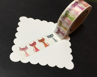 Cats with Glasses Washi Tape WT1066CG