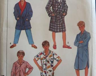 Simplicity 8327, Boy's Pajama's Nightshirt, and Robe Sewing Pattern