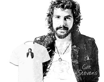 40% OFF SALE Cat Stevens Drawing T shirt