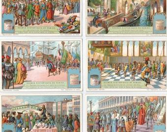 Liebig Scenes historique de Venise Historical scenes of Venice.