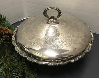 Etched Siverplate Covered Casserole