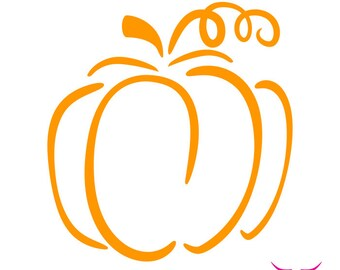 Simple Pumpkin Outline SVG cut file for Cricut or other cutting machine, Fall SVG, Halloween SVG, Thanksgiving Svg, Pumpkin Svg