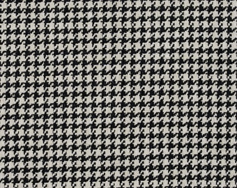 Black Houndstooth Sewing Fiber Upholstery Etsy Studio