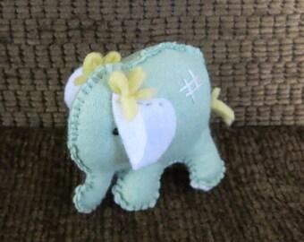 Toy Elephant, Small Stuffed Felt Nursery Toy, Baby Shower Gift, Birthday Toy, Newborn Christmas Gift, Childs Gift, Pretend Play