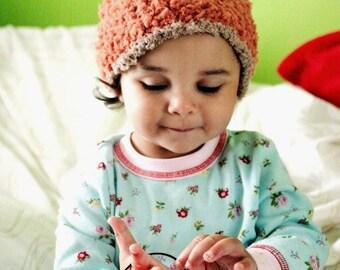 2T to 4T Orange Pumpkin Hat Kids Orange Hat Brown Orange Pumpkin Beanie Fall Hat Toddler Pixie Elf Hat Photo Prop  Gift Christmas Baby Gift