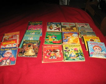 Lot of 20 Vintage Childrens Books- Bindings all good-Shows use