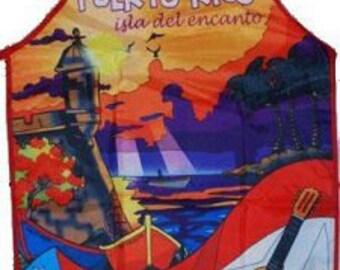 Puerto Rican Apron/Delantar de Puerto Rico/ Puerto Rico Scene