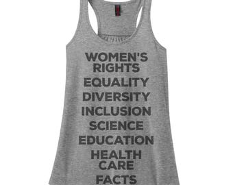 Womens Rights Shirt Nasty Woman Shirt Workout Tank Activist Shirt Workout Womens Equality Diversity Inclusion Science Shirt Education Facts