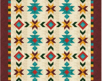 Southwest Inspired Full/Queen size quilt pattern - 76 in. x 100 in.