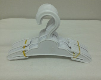 Doll Hangers, Doll Accessories, White Hangers, Doll Clothes Hangers.