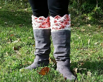 Pink Crocheted Boot Cuffs