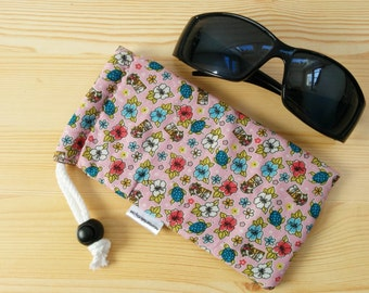 Glasses case,sunglasses case,floral pouch,canvas case,quilted glasses case,sunglasses cover,glasses bag,glasses soft case,denim case,denim