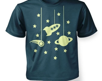 Hanging In Space (Glow-In-The-Dark) kids t-shirt