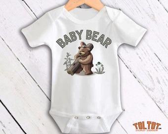 Baby Bear Bodysuit, Toddler Shirt, Toddler Tee, Newborn, Funny One Piece