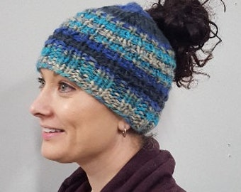 KNITTING PATTERN - My Little Ponytail Beanie