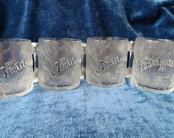McDonald's 1993 Flintstone Pre-Dawn Glass Mugs set of 4